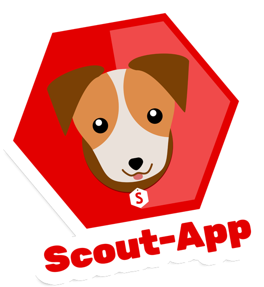 Scout-App logo as a sticker