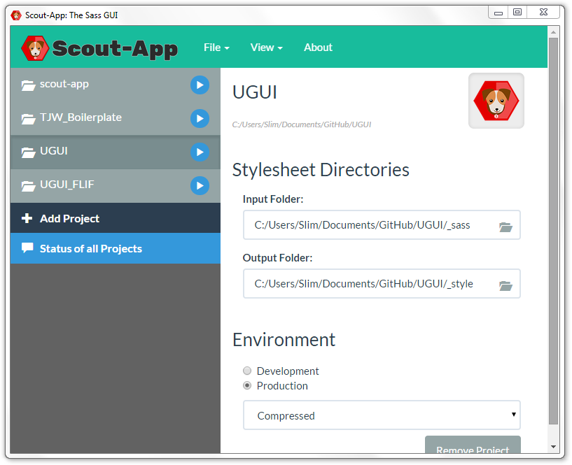 Scout-App - Sass without hassle